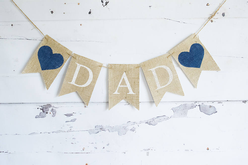 Fathers Day Decor Dads Birthday Decoration I Love Dad Banner Happy