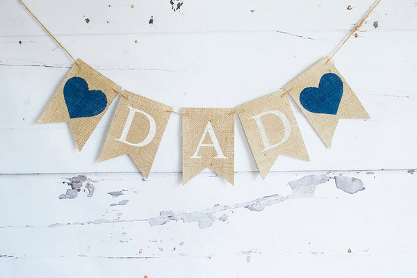 Father's Day Decor, Dad's Birthday Decoration, I Love Dad Banner, Happy Birthday Dad,  B649