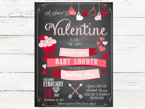 Digital Valentine Baby Shower Party Cards, Baby Shower Invitation, Valentine Baby Invitations, Valentines Gender Reveal  Invitations, C090
