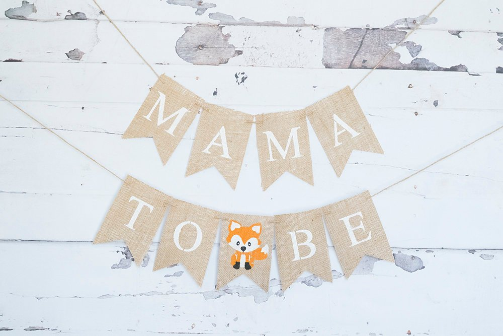 Fox Baby Shower Decor, Fox Baby Shower Banner, Woodland Fox Mama To Be Sign, Woodland Themed Baby Shower Decor, Mom To Be Sign, B934