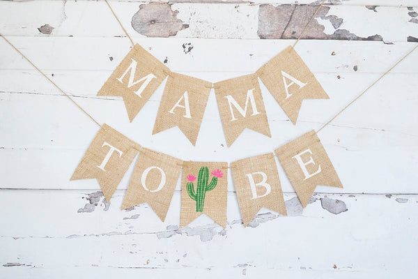 Cactus Baby Shower Decor, Fiesta Baby Shower Banner, Cactus Mama To Be Banner, Summer Baby Shower Garland, Cactus Gender Reveal Sign, B930