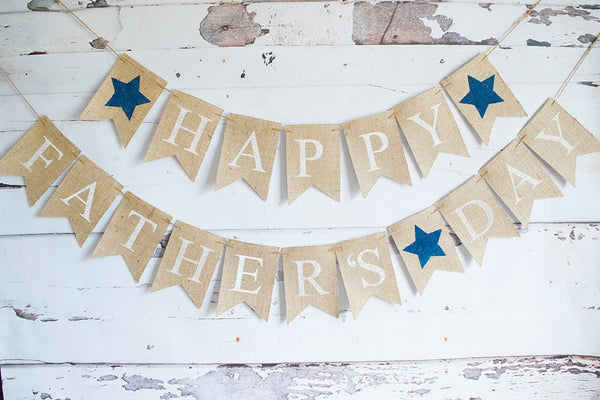 Happy Father's Day Banner, Father's Day Decor, Dad's Celebration Sign, B650