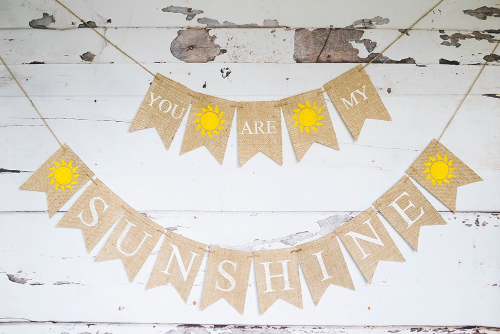 You Are My Sunshine Banner, Summer Baby Shower Decor, You Are My Sunshine Decor, Sunshine Birthday, Nursery decor, Summer Party, B701