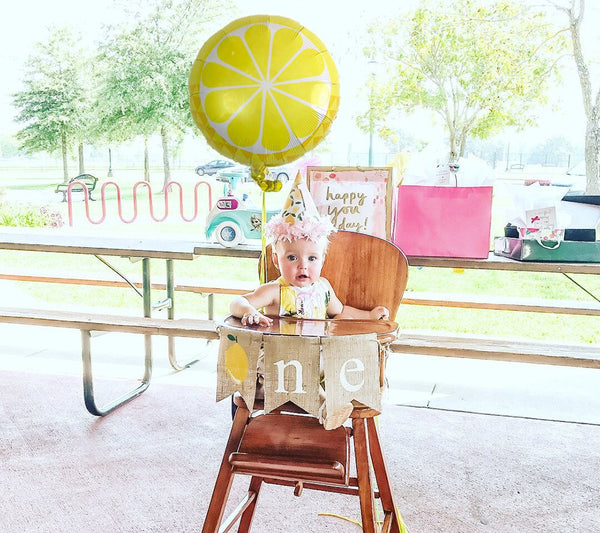Lemonade Party Decor, Lemonade 1st Birthday Decoration, Lemon Birthday Banner, Lemonade Highchair Banner, 1st Birthday Photo Prop, B529