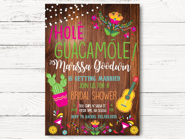 Digital Fiesta Bridal Shower Invitation, Cactus Bridal Shower, Fiesta Invitation, Tying the Knot Invite, Cactus Party, C101