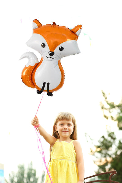 Woodland Fox Balloons, Woodland Party Decor, Fox Party Decoration, Woodland Birthday Party, Large Fox Foil Balloon, Woodland Themed Decor