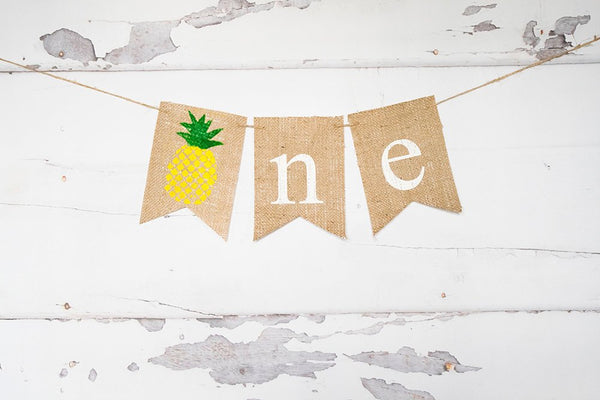 Pineapple Party Decor, Pineapple 1st Birthday Decoration, Pineapple Birthday Banner, Pineapple Highchair Banner, 1st Birthday Prop, B950