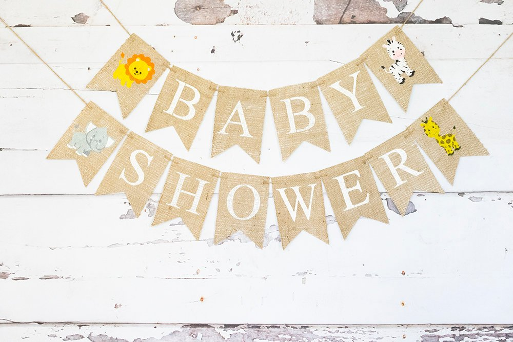 Safari Baby Shower Decoration, Jungle Baby Shower Banner, Safari Nursery Decor, Jungle Baby Shower Sign, Baby Lion Birth Announcement, B798