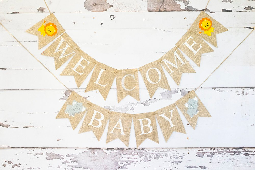Baby Shower Decor Welcome Baby Safari Banner Swanky Party Box
