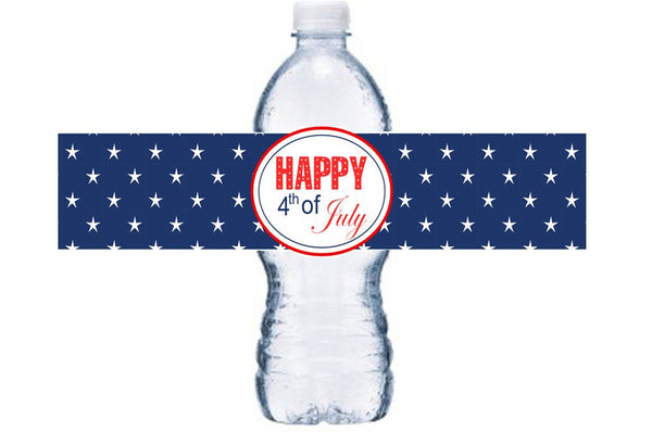 10 or More July 4th Waterproof Bottle Label, 4th of July Adhesive Bottle Label, BL041