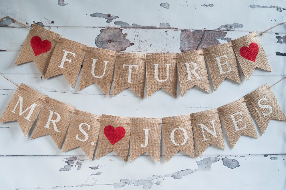 Future Mrs Banner, Bridal Shower Banner, Bachelorette Party Banner, Bridal Party Banner, Bridal Shower Decor, B237