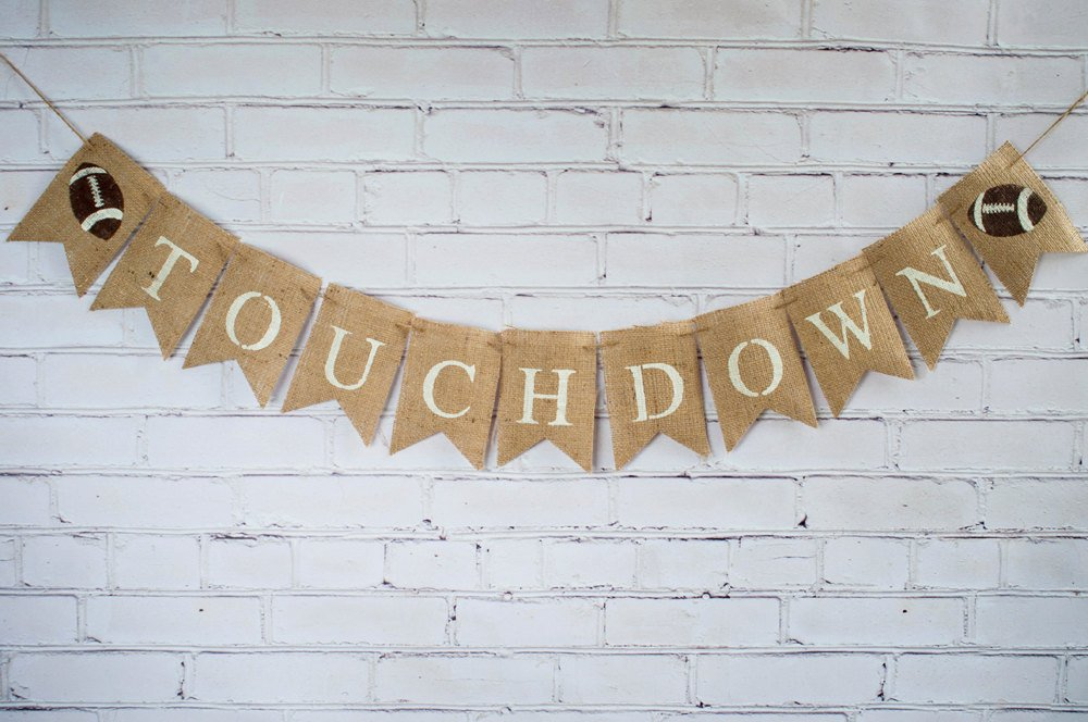 Touchdown Football Banner, Football Banner, Football Decor, Superbowl Banner, Sports Banner, Football Baby Shower, B241