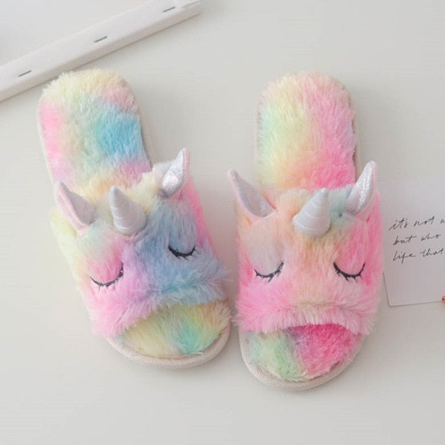 Ice Cream Rainbow Unicorn Slippers - Open Toed or Normal