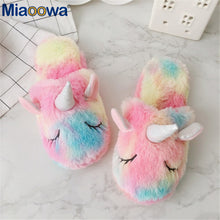 Load image into Gallery viewer, Ice Cream Rainbow Unicorn Slippers - Open Toed or Normal
