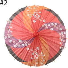 30cm Wide Paper Umbrella With Wooden Handle