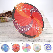 Load image into Gallery viewer, 30cm Wide Paper Umbrella With Wooden Handle