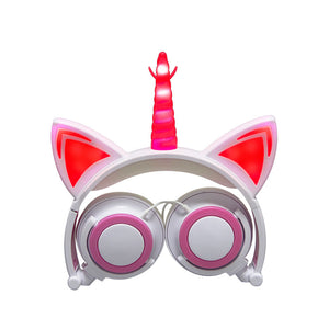 Cute Lovely Cat Ear Flashing Headphones kezyb.myshopify.com