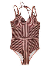 Load image into Gallery viewer, Striped One Piece Swimwear