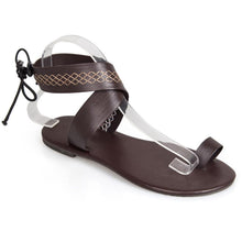 Load image into Gallery viewer, Bohemian  Flat  Ankle Strap  Peep Toe  Beach Casual Gladiator Sandals