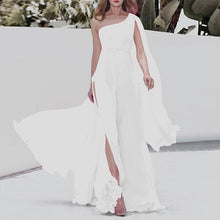 Load image into Gallery viewer, One Shoulder Chiffon Beach Vacation Dress