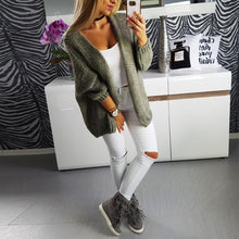 Load image into Gallery viewer, Casual Loose Long Sleeve Plain Cardigans