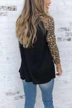 Load image into Gallery viewer, Round Neck  Leopard Patchwork T-Shirts