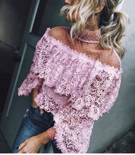 Load image into Gallery viewer, Autumn And Winter   Fashion Sexy Lace Blouses