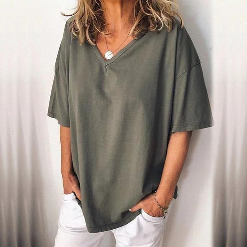 Casual Loose V-Neck T-Shirts