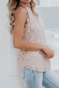 Band Collar Open Shoulder  Decorative Lace  Lace  Blouses