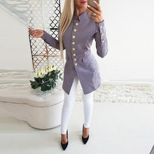 Load image into Gallery viewer, Vintage Button Long Sleeve Plain Blazers