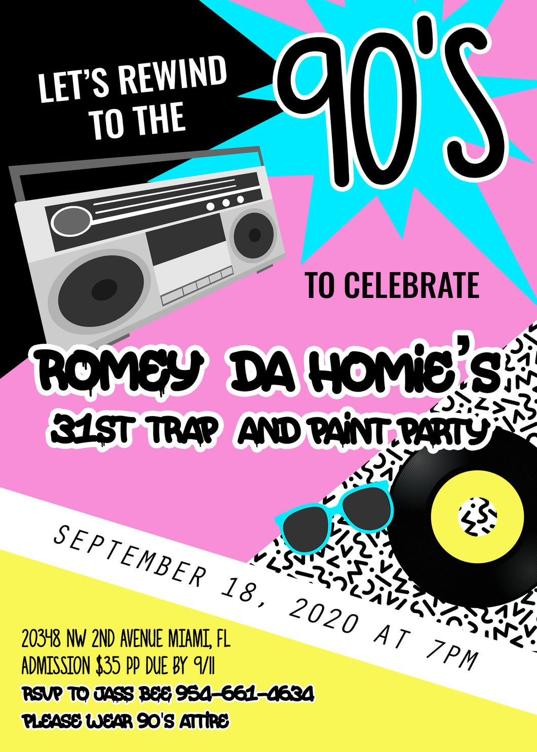Romey Da Homie's 31st Trap & Paint Party ! - September, 18th 2020 7:00 to 10:00 pm