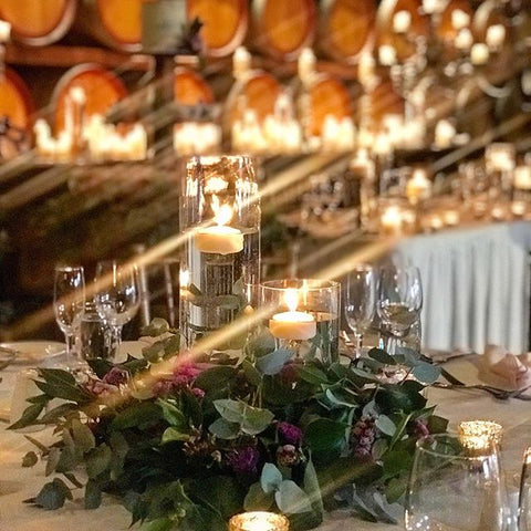 floating candle centrepiece