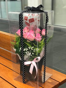 PINK ROSES WOW BOX