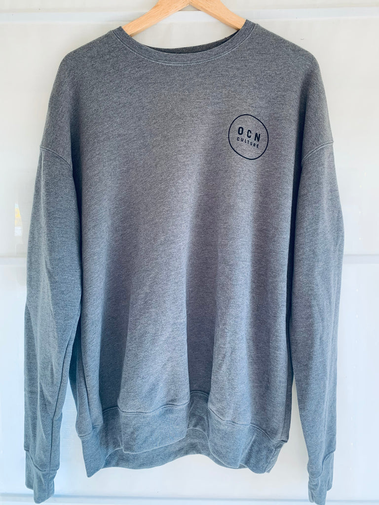 OCN Crew Sweatshirt - Heather Gray