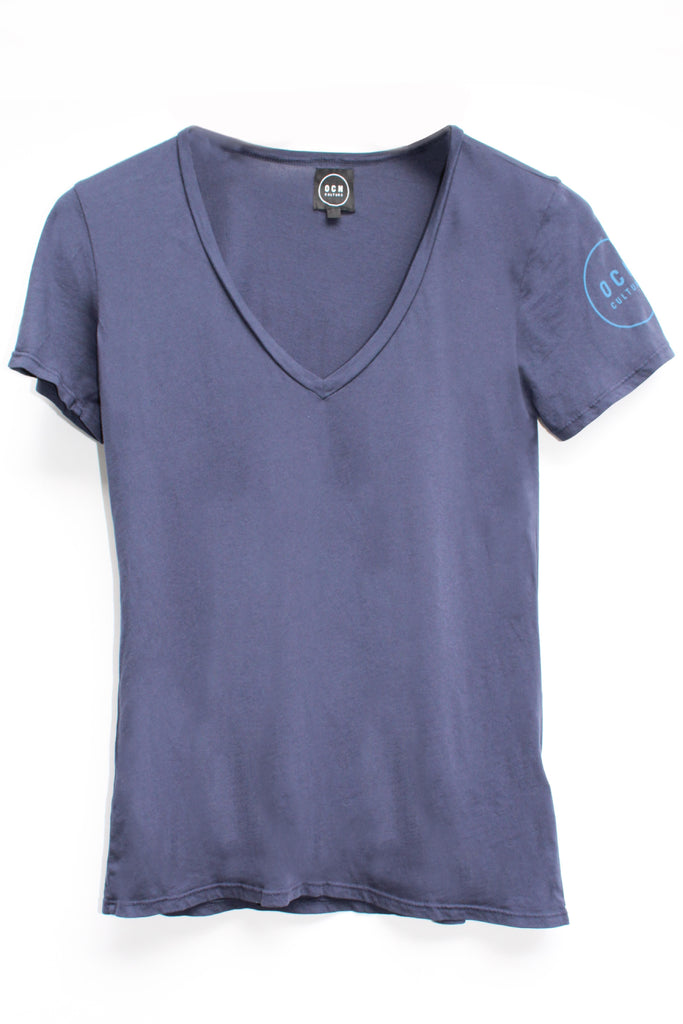 T-Shirt The Blank V-Neck Navy
