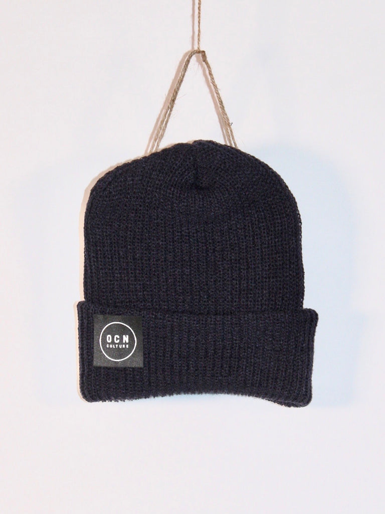 OCN Rolled Cuff The Local Dark Navy Beanie