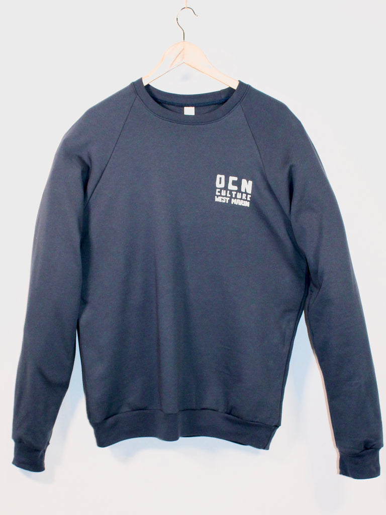 OCN Far West Organic Crew Sweatshirt Pacific Blue