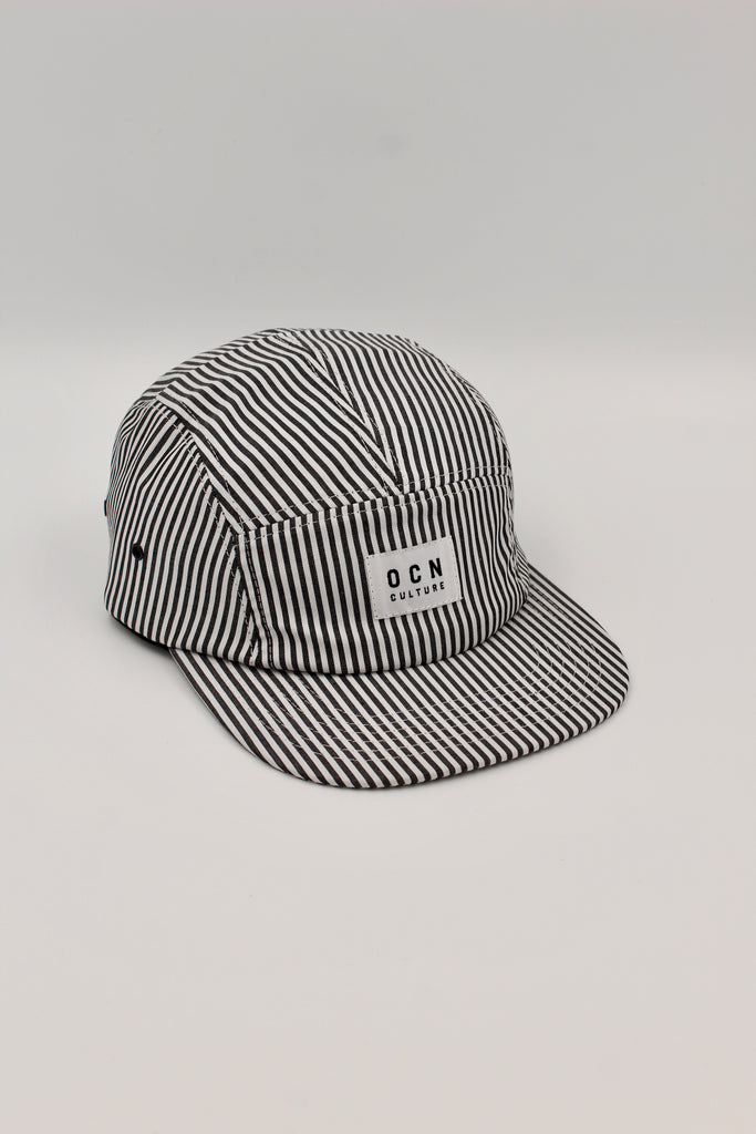 OCN Camper Black/ White Stripe 5 Panel