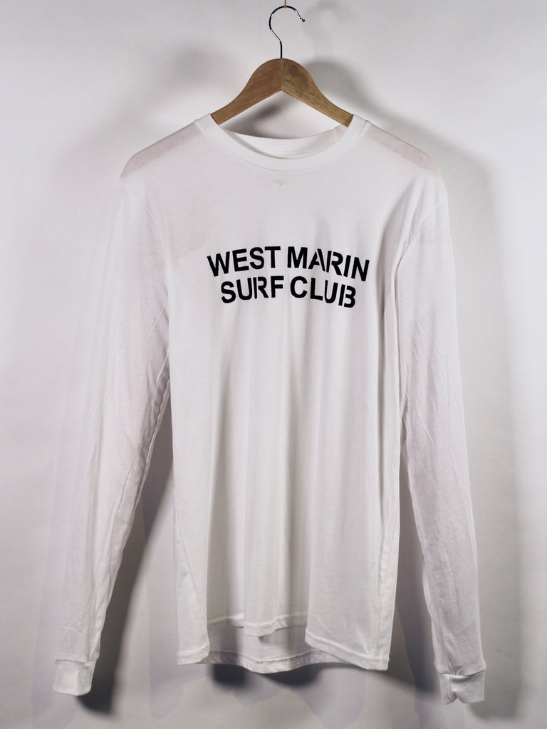 Long Sleeve West Marin Surf Club Organic T-Shirt Classic Salt