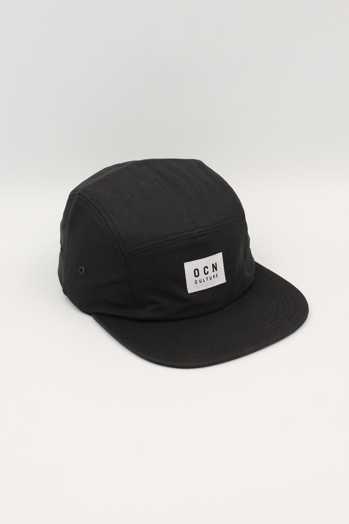 OCN Camper Black Waxed Canvas 5 Panel