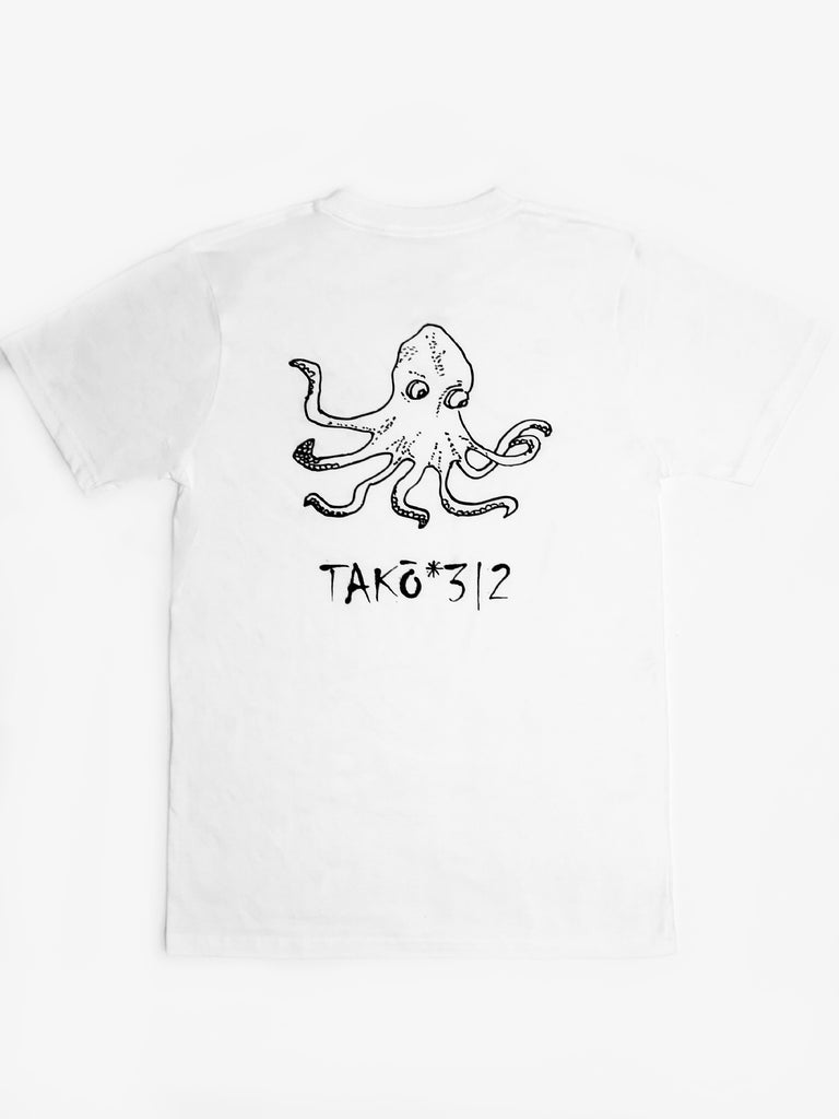 Limited Edition TAKO 100% Organic White Tee