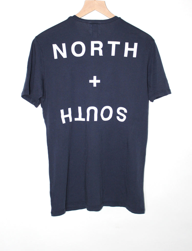 North + South Navy Organic T-Shirt