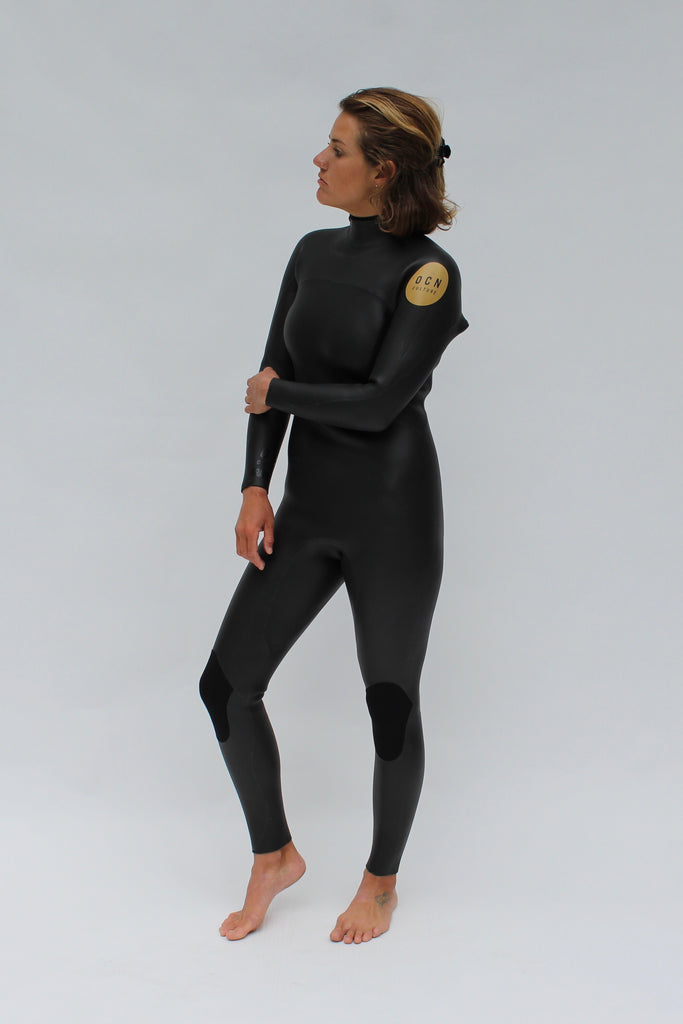 NEW!  Limited Womens Gradus Retro Smoothie 3MM Wetsuit Black