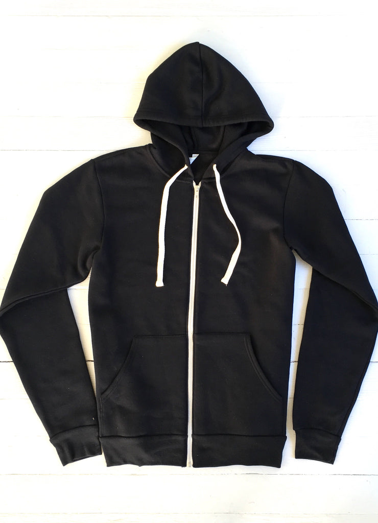 OCN ZIp Up Night Slider Black Hoodie