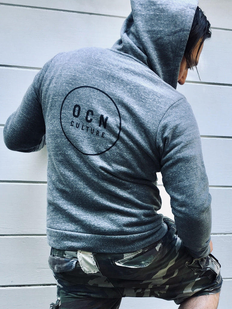 OCN Zip Up Dawn Patroler Grey Hoodie