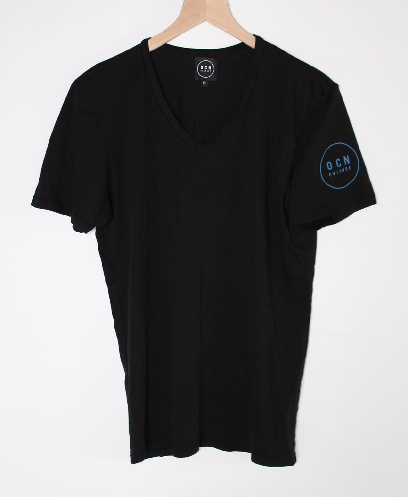 The Blank V-Neck Black Organic T-Shirt