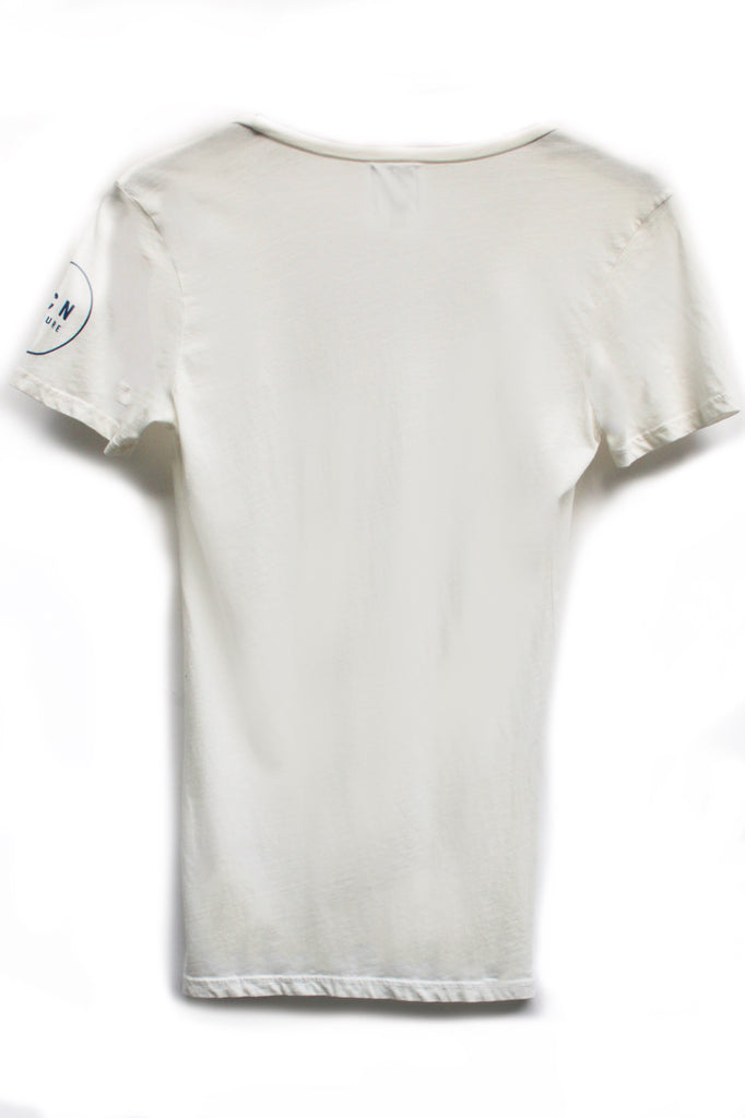 Organic The Blank Swoop Neck T-Shirt - White Sand
