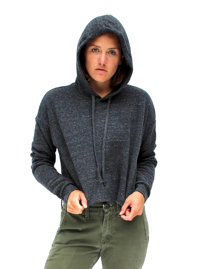 OCN Crop Single Fin Crew Eco Hoodie