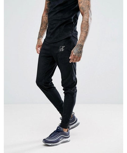 Skinny Fit Velour Joggers