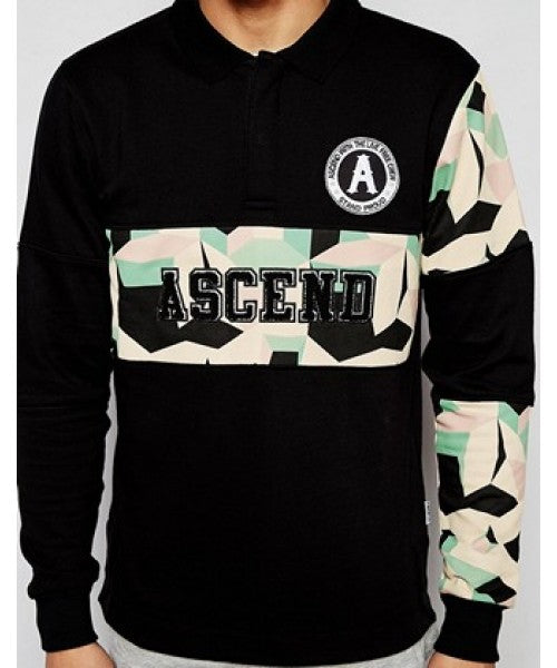 WORD CAMO RUGBY SHIRT